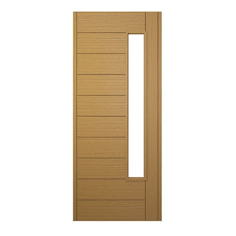Wickes Front Door Wickes Stockholm External Oak Veneer Glazed Door 1981 X 762mm Wickes Co Uk