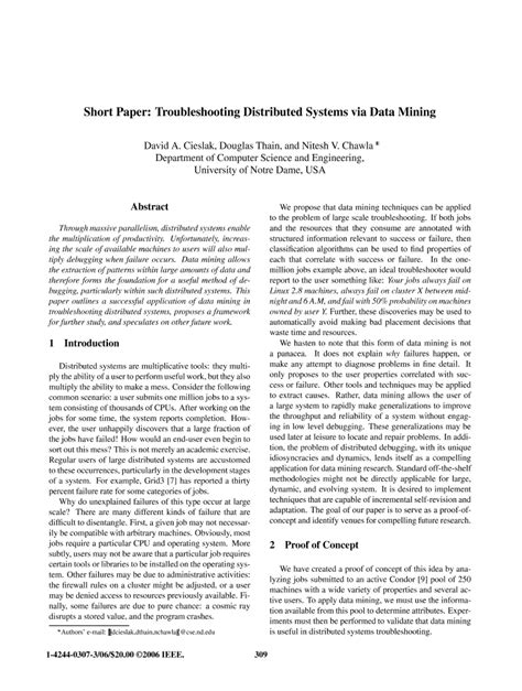 how to write an ieee paper paper troubleshooting distributed systems via data