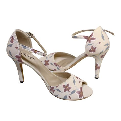 Sepatu Sendal Strp Pink sepatu ankle lukis petunia krem