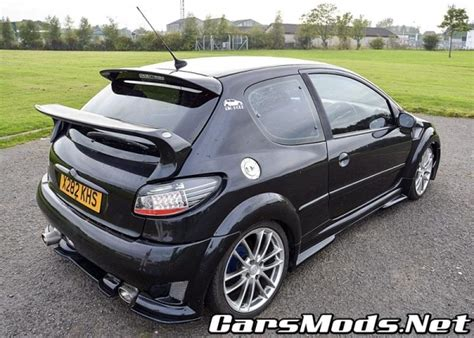 peugeot 206 modifications peugeot 206 black tuning rims cars mods