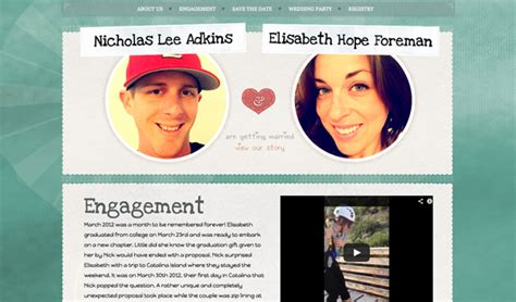 Couples Website Tips For A Wedding Website Designmodo