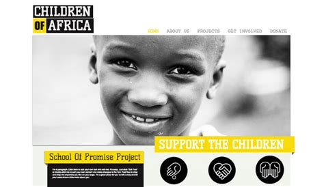 free website templates for non profit organizations feed the world wix template freewebsite