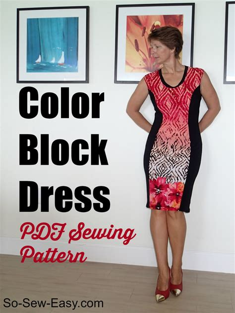 pattern color block dress color block dress pdf sewing pattern