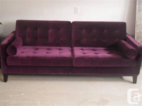 barn purple velvet sofa for sale in brton