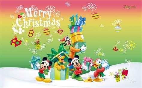 fabulous  disney  characters christmas wallpaper