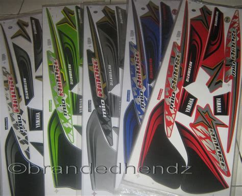 Set Warna Hijau Merah Biru pin yamaha mio set up for sale on