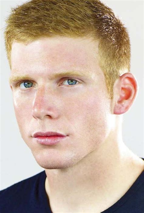 ginger men s hairstyles a classic short men s haircut on a man with red hair on