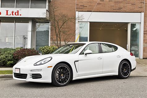 porsche sedan white porsche 2014 panamera 4s 4 door awd sedan motorcars