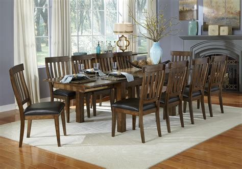 11 piece dining room set 11 piece dining table and slatback chairs set by aamerica