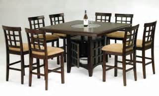 dining room table set with lazy susan collections