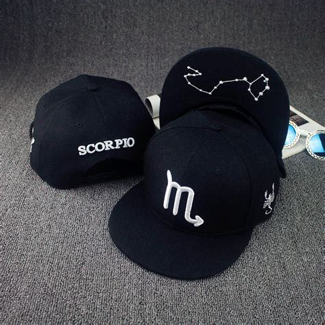 Topi Snapback 30 12 constellations hats black topi zodiac hat fitted snapback baseball caps designer basketball