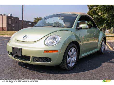 green volkswagen beetle convertible 2007 volkswagen new beetle 2 5 convertible in gecko green