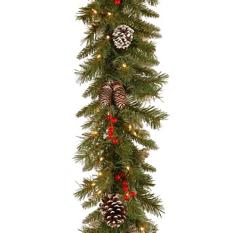 best xmas lighted garlands 100ft 10 best garland ideas for 2018 artificial fabric pre lit tree garland