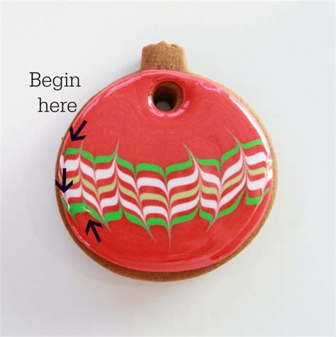 marbled icing christmas cookies marbled ornament cookies sweetopia