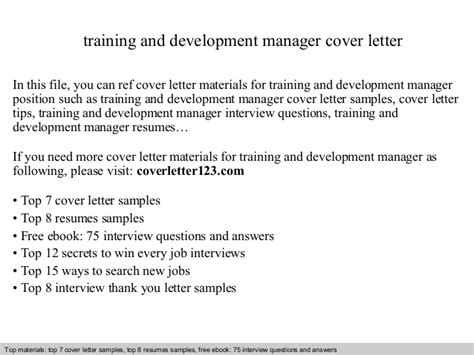 cover letter training and development covering letter
