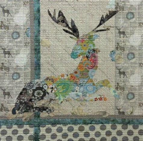 ohio pattern works oh deer collage quilt pattern by laura heine