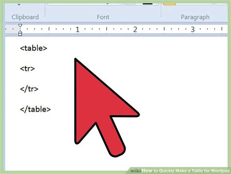 how to make a phlet on wordpad 3 ways to quickly make a table for wordpad wikihow