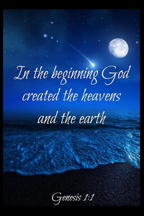 genesis verse 1 in the beginning god created the heavens and the earth