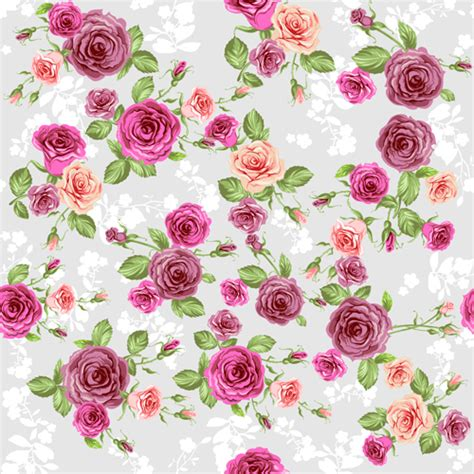 rose pattern clipart creative rose pattern design graphics vector 04 vector