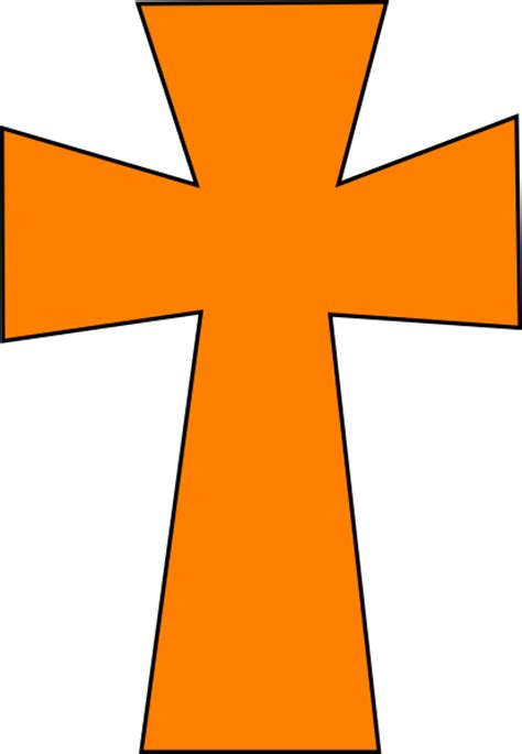 cross clipart cross orange black clip at clker vector