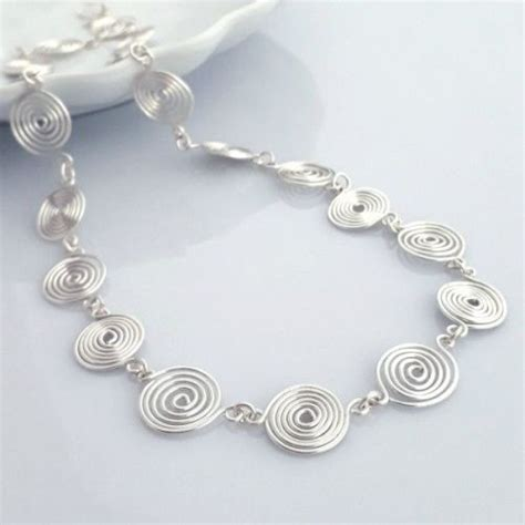 Spiral Silver Necklaces silver spiral necklace by tammy betson
