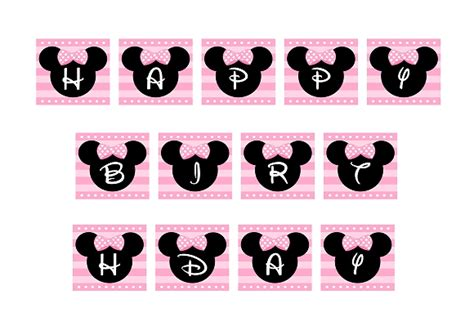 printable minnie birthday banner free pink minnie mouse birthday party printables catch