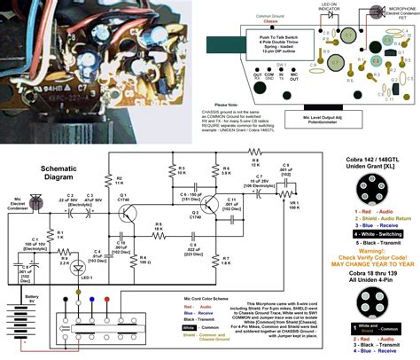 4 pair microphone wiring diagram midland cb mic wiring
