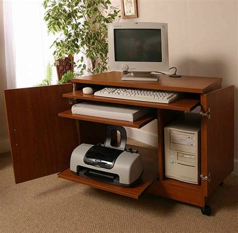 Small Laptop And Printer Desk Small Computer Desks For Home Office Computer Desk For Small Spaces Home Office Furniture