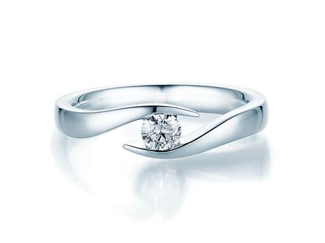 Verlobungsring F R Mann by Spannring Twist In Silber Und Diamant 0 25ct