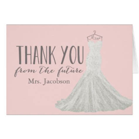 thank you cards for bridal shower template wedding thank you cards zazzle