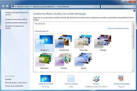 temas de escritorio windows 7 cambiar o personalizar los temas de windows 7