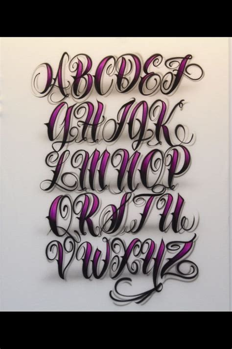 tattoo fonts pinterest chicano lettering alphabet 1000 images about fonts