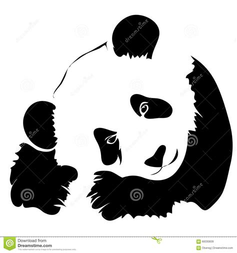 Panda Outline Drawing by Outline Panda Vector Illustration Stock Vector Image 68330839