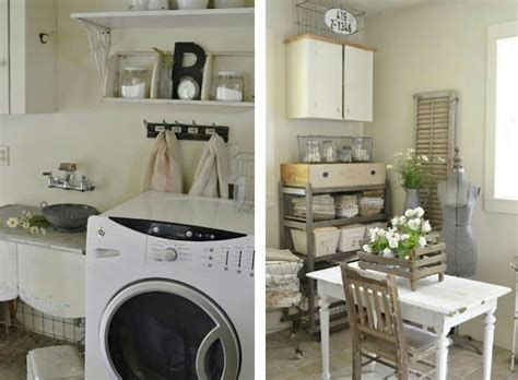 Vintage Laundry Room Decorating Ideas Shabby Chic Laundry Room Home Decor Ideas