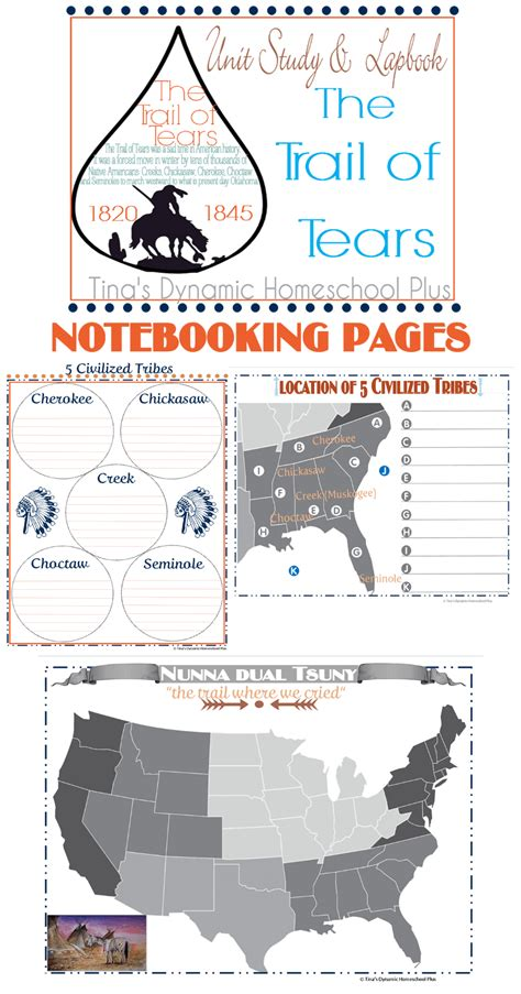 Free Notebooking And Journal Pages Life Of A Homeschool Mom Trail Of Tears Coloring Page