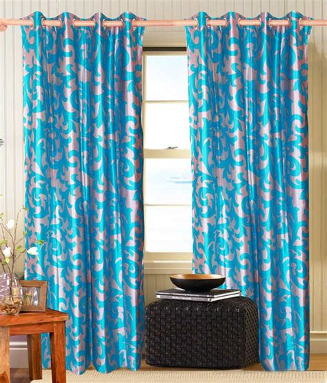 silver and blue curtains vrinda silver blue contemporary poly cotton eyelet