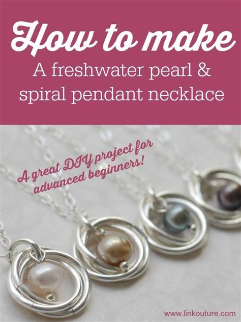 learn how to make jewelry learn how to make your own pearl and spiral pendant