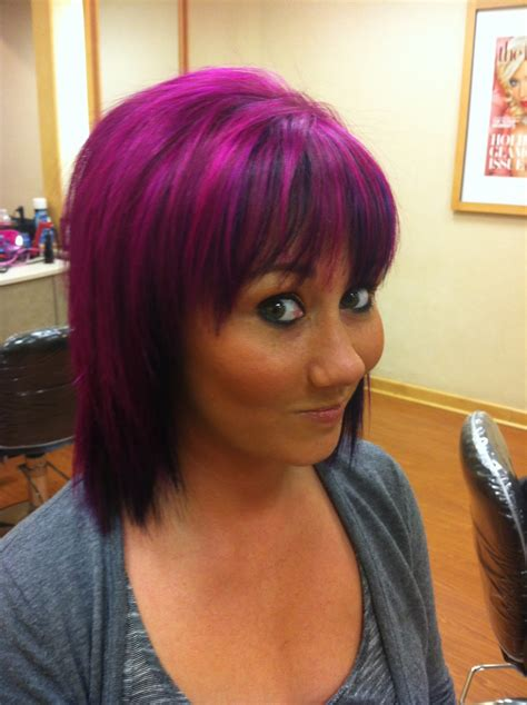 purple hair styles search