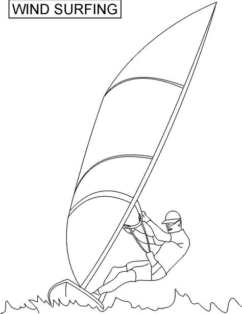 free coloring pages of a surfboard