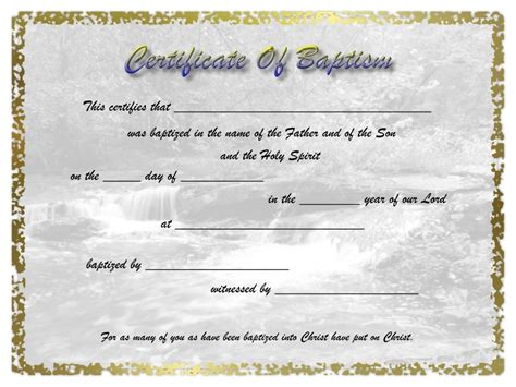 Baptism Certificate Template search results for baptism certificate calendar 2015