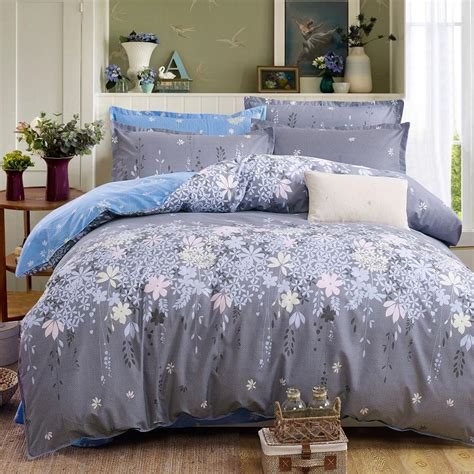 Cotton Polyester Comforter by Plaid Bedding Set 4pcs Polyester Cotton Duvet Cover Bed