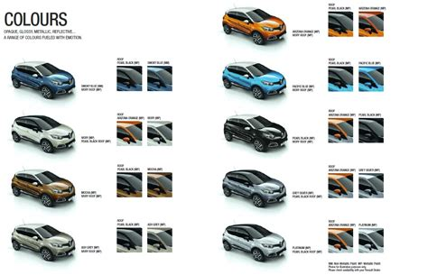 renault colour chart ebay the new renault captur test drive at renault belgard