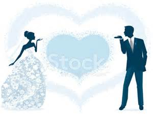 Bride and groom silhouette blowing kisses stock photos freeimages