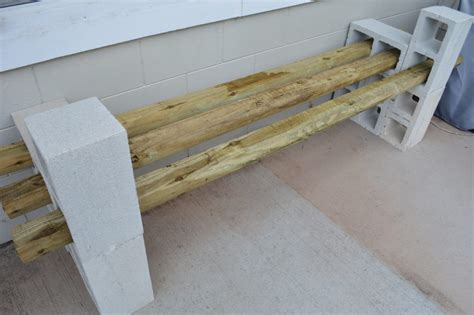 brick bench diy simple diy cinder block outdoor bench under 100