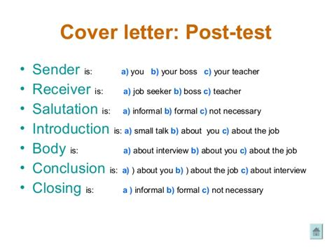 job preparation cover letter