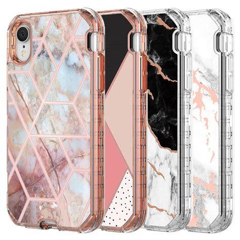 iphone xr case luxury marble    heavy duty