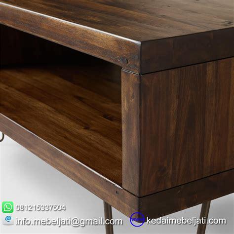 beli meja tv simple minimalis kaki besi design vintage harga murah
