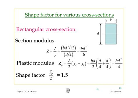 formula for section modulus module4 plastic theory rajesh sir