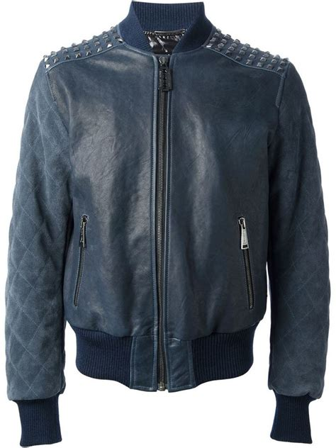 Bomber Calvin Klein Basic Original studded bomber jacket designer jackets
