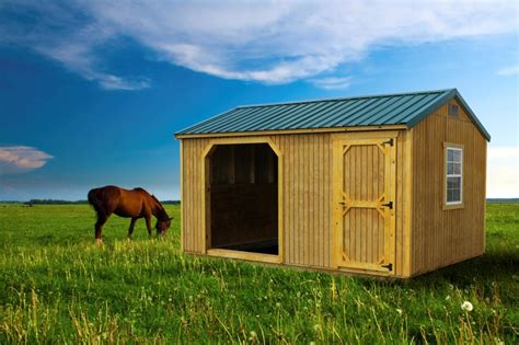 lakeside sheds treated horse stall  tack room wooden